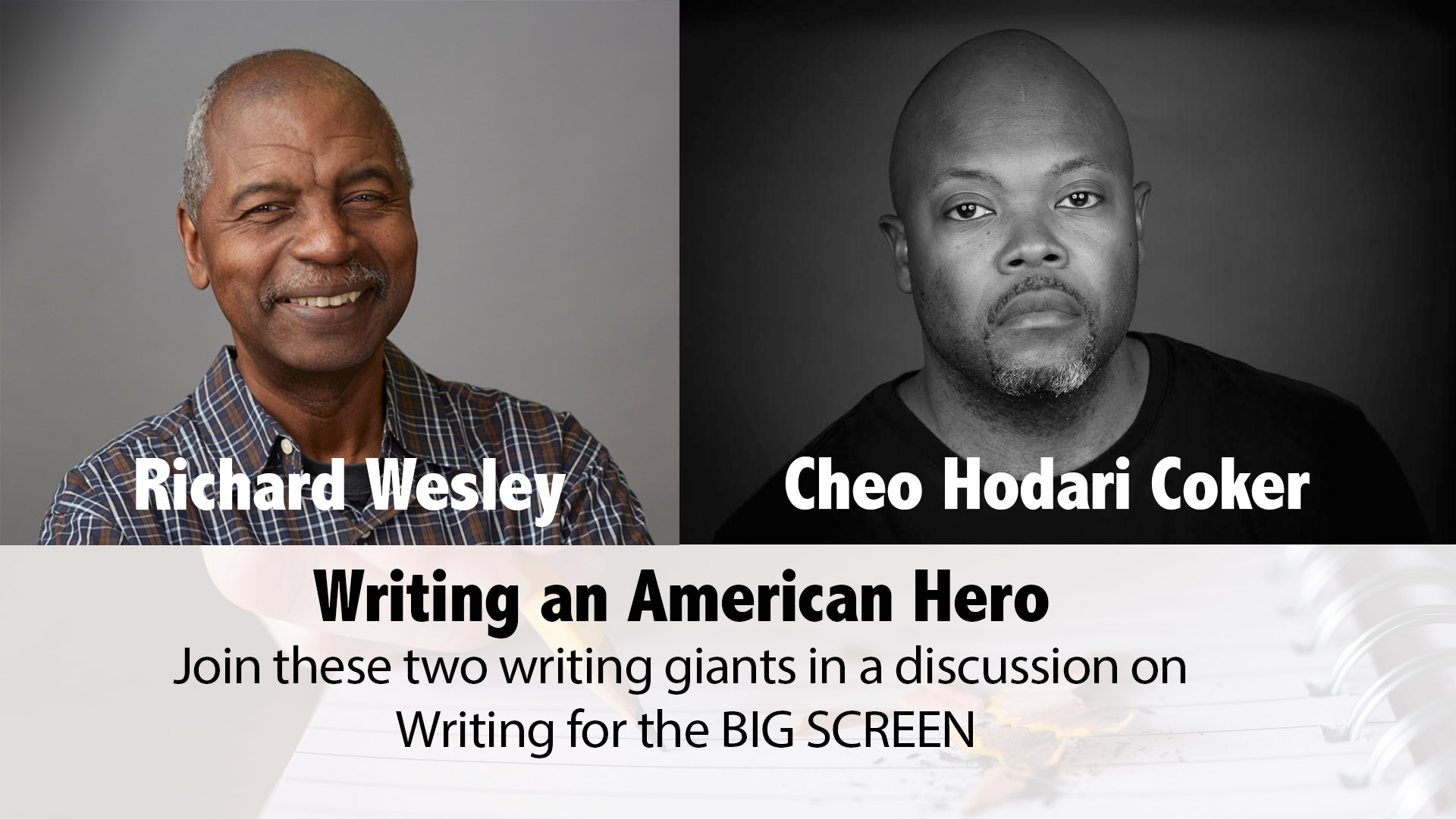 Richard Wesley and Cheo Hodari Coker Writer's Conversation and Panel