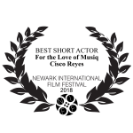 Newark International Film Festival's 2018 Best Short Actor Award